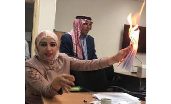 أبو رمان توضح لماذا أحرقت الوثائق
