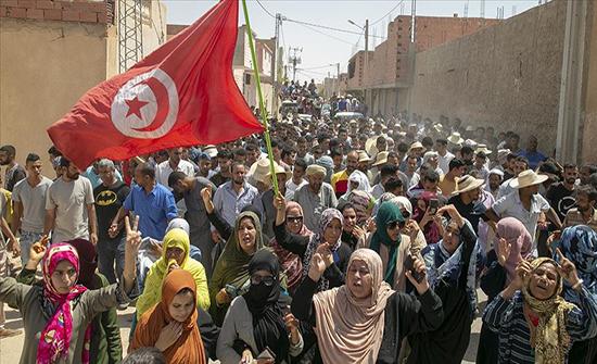 تونس.. استمرار احتجاجات تطاوين على مقتل شاب على حدود ليبيا