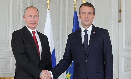 بوتين وماكرون يبحثان الاتفاق الروسي التركي بشأن سوريا