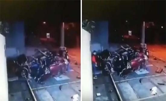 فيديو :  نجاه سائق بأعجوبة بعد إنقلاب مركبته عدة مرات في بريطانيا