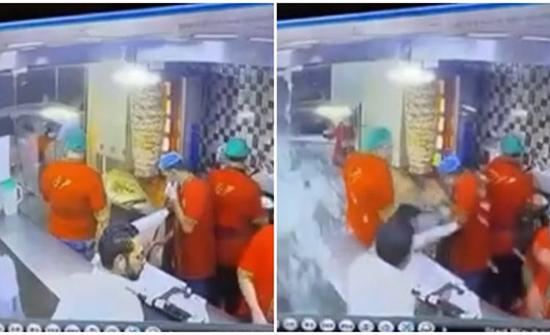 فيديو : اقتحام سيارة تقودها سيدة لمطعم بالسعودية