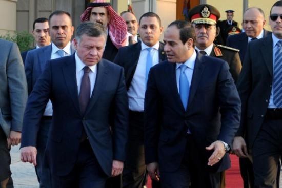 السيسي يهنئ الملك والأردن بعيد استقلال