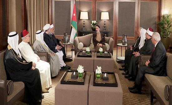 الأمير غازي يستقبل رؤساء الوفود المشاركين في مؤتمر وزراء الأوقاف والشؤون الإسلامية بدول العالم الإسلامي