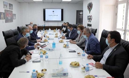 الحوار الوطني الشبابي بمجلس الأعيان تجتمع مع الأولمبية الأردنية