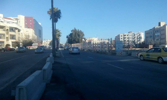 إغلاق مقطع من شارع عبدالله غوشة