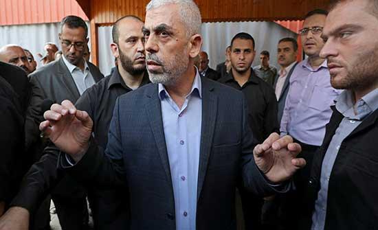 السنوار: نرفض الابتزاز الإسرائيلي و استمرار أزمة غزة