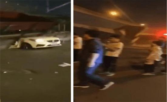 شاهد: لحظة انهيار جسر فوق السيارات وسقوط ضحايا في الصين
