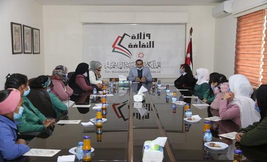 الثقافة تكرّم طالبات مدرسة قصر الحلابات الفائزات بجائزة التراث الثقافي العربية