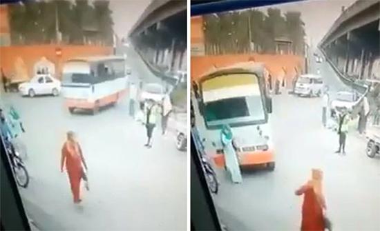 بالفيديو : حافلة مسرعة تدهس سيدة حامل في مصر والسائق يلوذ بالفرار