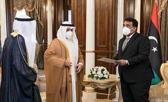 وزير خارجية الكويت في طرابلس.. التقى المنفي ودبيبة