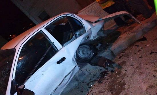 بالفيديو : إصابة 8 أشخاص اثر حادث تصادم في عمان