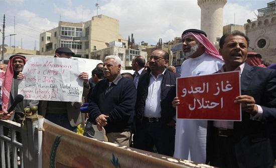 """تجدد الحملة الأردنية ضد """"غاز إسرائيل"""""""