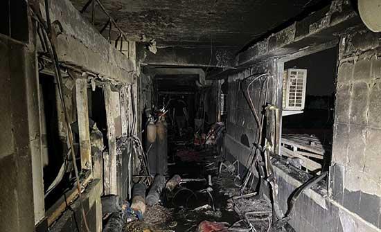 """""""حقوق الإنسان"""" العراقية : وسائل الدفاع المدني وإطفاء الحريق غير متوفرة في المستشفى"""