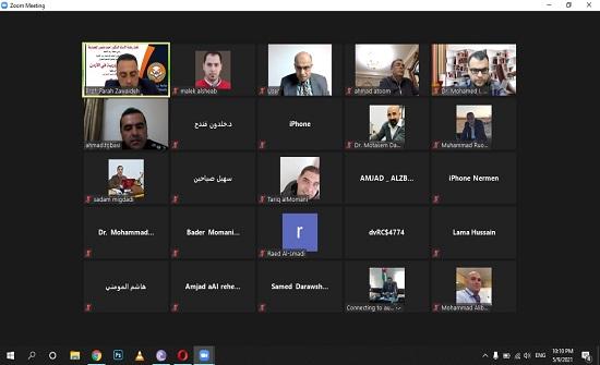 جامعة إربد الأهلية تعقد محاضرة بعنوان السلامة المرورية في الأردن عبر تطبيق زووم