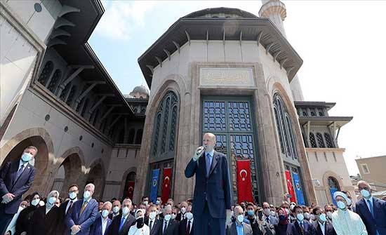 """أردوغان عقب افتتاح مسجد تقسيم : هذا المسجد """"رمز جديد"""" لاستقلال تركيا .. بالفيديو"""