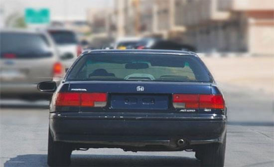 السير: أي تعديلات على لوحة المركبة مخالفة للقانون