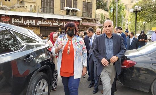 بالصور : وزيرة الثقافة المصرية إيناس عبد الدايم تزور السلط