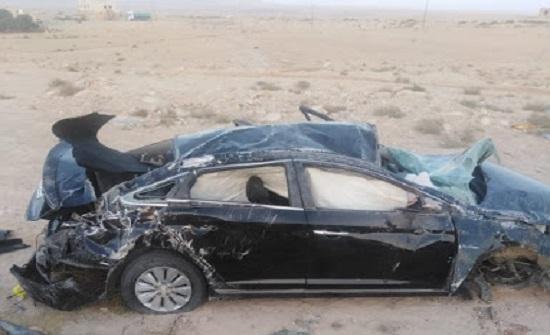 وفاة يحيى السعود بحادث سير واصابة نجليه وشقيقه