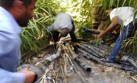 المياه : حملة تضبط (25) سرقة على مصادر المياه في الاغوار الشمالية