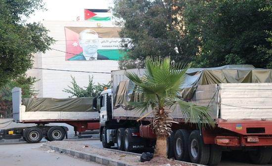 قافلة مساعدات أردنية جديدة تصل إلى غزة
