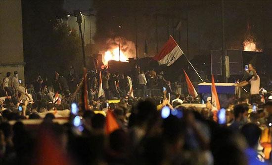 60 جريحا باشتباكات بين الأمن ومحتجين في كربلاء العراقية