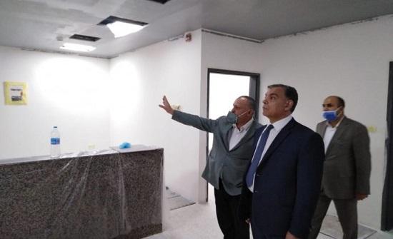 """جابر يتفقد توسعة أقسام العناية المركزة والإسعاف والطوارئ في """"الأمير حمزة"""""""