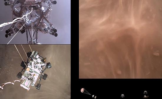 """شاهد : ناسا تنشر فيديو هبوط مركبة """"برسيفيرانس"""" على سطح المريخ"""