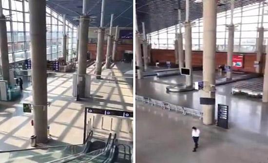 كورونا يعزل إيران عن العالم.. مطار الخميني بلا مسافرين..فيديو