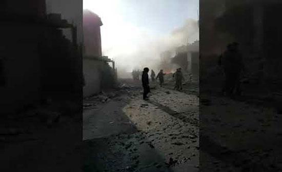 بالفيديو : اشتباكات عنيفة بريف إدلب تزامنا مع غارات روسية