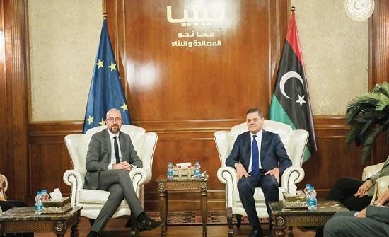 الاتحاد الأوروبي يعرب عن دعمه للحكومة الليبية برئاسة الدبيبة