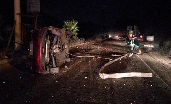 صور : اصابتان جراء حادث سير في اربد