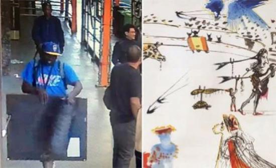 بالفيديو: سرق لوحة عالمية في 32 ثانية في امريكا