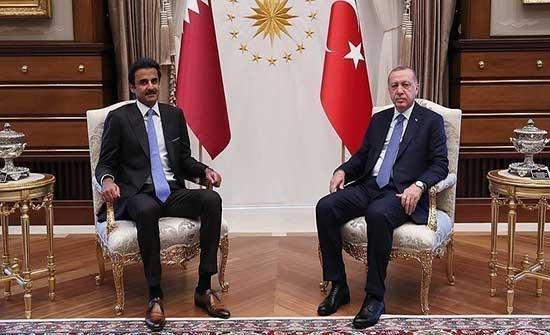 أردوغان وأمير قطر يبحثان تعزيز علاقات التعاون الاستراتيجية