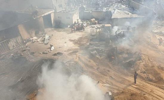 """الطيران """"الإسرائيلي"""" يستهدف مصنع شمالي قطاع غزة"""