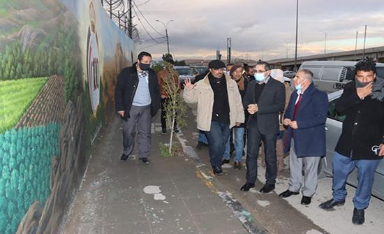 جدارية فنية بمناسبة مئوية الدولة الأردنية بالزرقاء