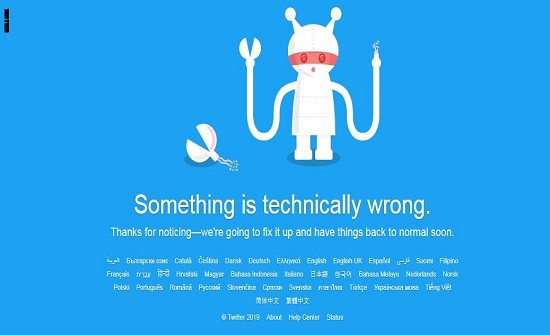 تويتر يعود للعمل بعد تعطله