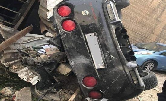 """عمان : ذهب لغسل سيارته فعادت له """" كومة حديد """""""