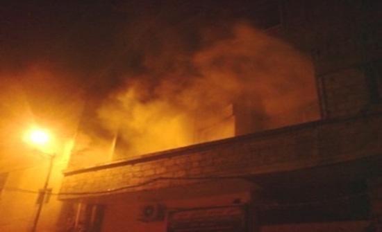 الامن : إصابة شخصين إثر حريق منزل في عمان