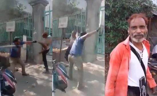 بالفيديو..الشرطة الهندية تلقن رجلًا درسًا قاسيًا لكسره حظر التجول