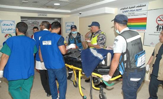 الدفاع المدني ينفذ  تمريناً لحادث وهماي مفترضا في المفرق - صور