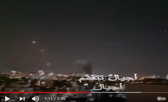 فيديو : أضخم ضربة صاروخية في تاريخ تل أبيب الله اكبر