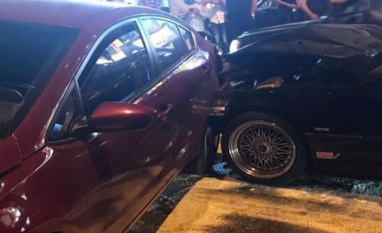 إصابات بحادث تصادم بين 9 مركبات في ياجوز