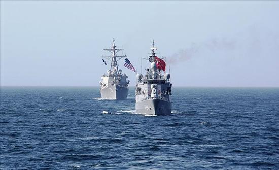 تدريبات بحرية تركية أمريكية مشتركة في البحر الأسود .. بالفيديو