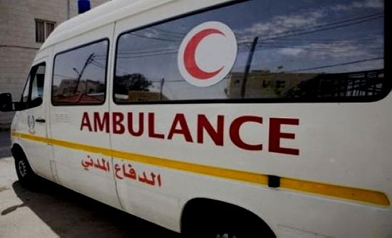 إصابة (5) أشخاص   اثر حادث تدهور في محافظه الطفيلة