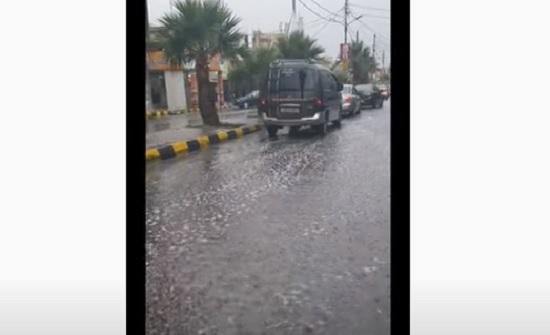 بالفيديو : شاهدوا اول شتاء في محافظة معان