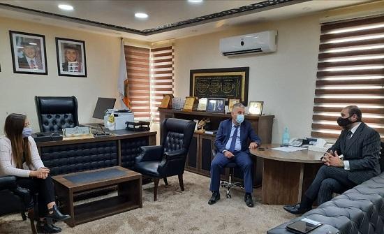 وفد من شركة الوثبة لخدمات الأعمال Migrate يزور جامعة إربد الأهلية