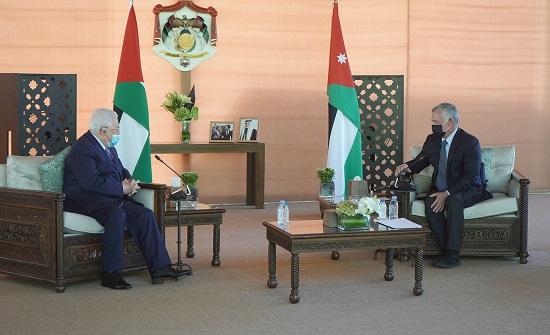 تفاصيل لقاء الملك مع عباس