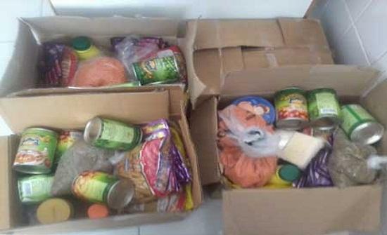 توزيع طرود غذائية في المفرق