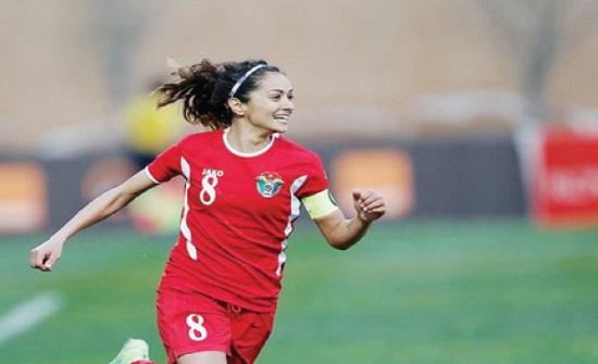 النبر أول لاعبة أردنية تحترف بأوروبا وتسجل 79 هدفا في 128 مباراة دولية