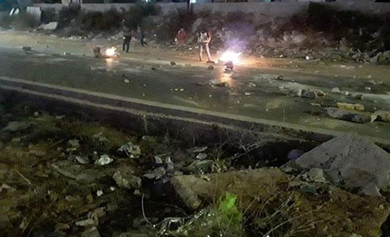 صور .. عجلون  : عودة الامور لطبيعتها في عبين بعد اغلاق الطريق من قبل محتجين